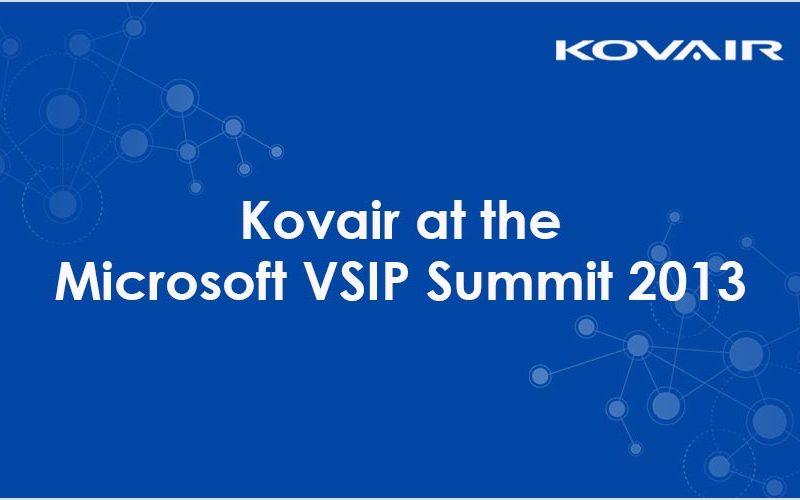 Kovair at the Microsoft VSIP Summit