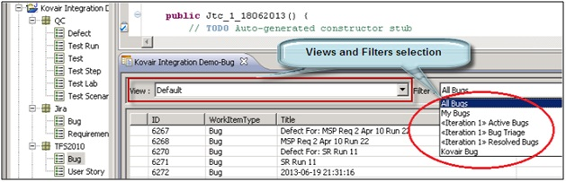 Views and Filters Selection in Omnibus Explorer