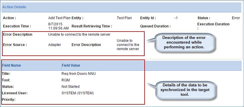 error encountered while performing data synchronization