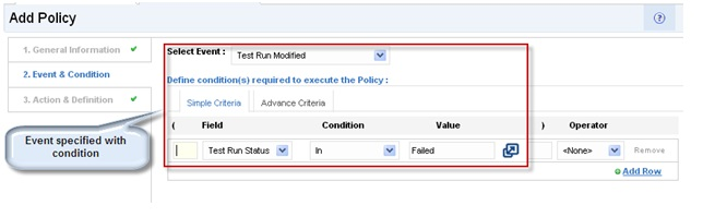 Kovair's Interface for Event and Condition specification