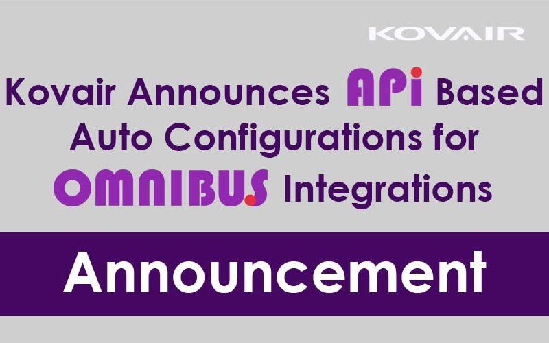 API Based Auto Configurations for Omnibus Integrations
