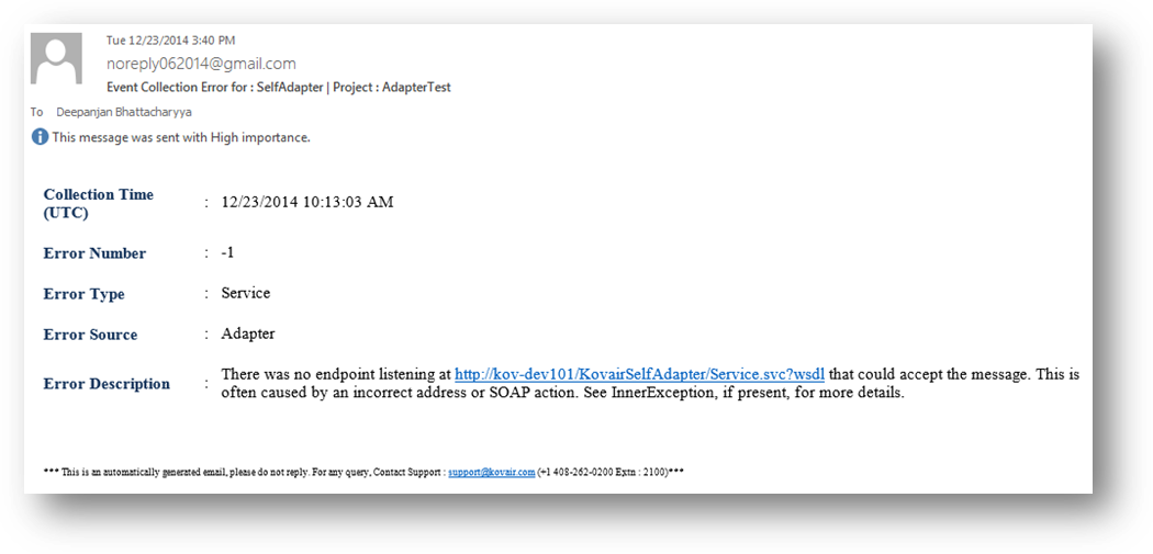 Error Notification