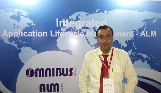 Jhilam Nandi - Kovair Representative at CEBIT 2014