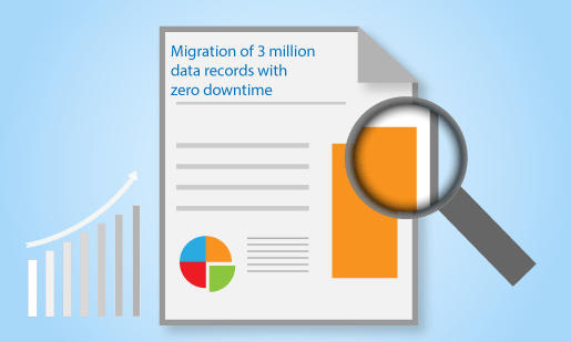 Migration of 3 million data records with zero downtime