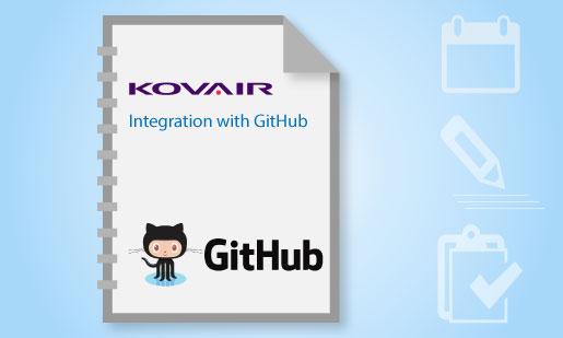 Kovair Integration with GitHub