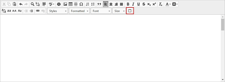 Maximize Support in Rich Text Field