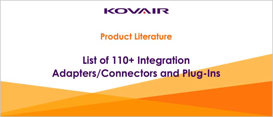 List of 90+ off the shelf Integration Adapters/Connectors and Plug-Ins