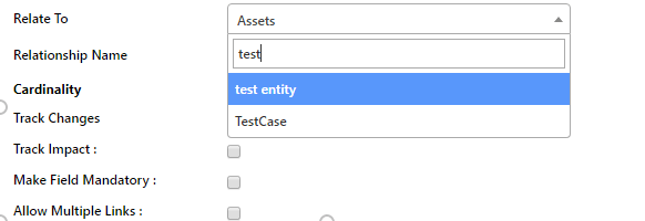 Entity Search Capability during Relation