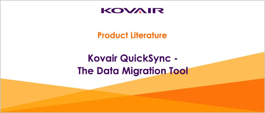 Kovair QuickSync The Data Migration Tool
